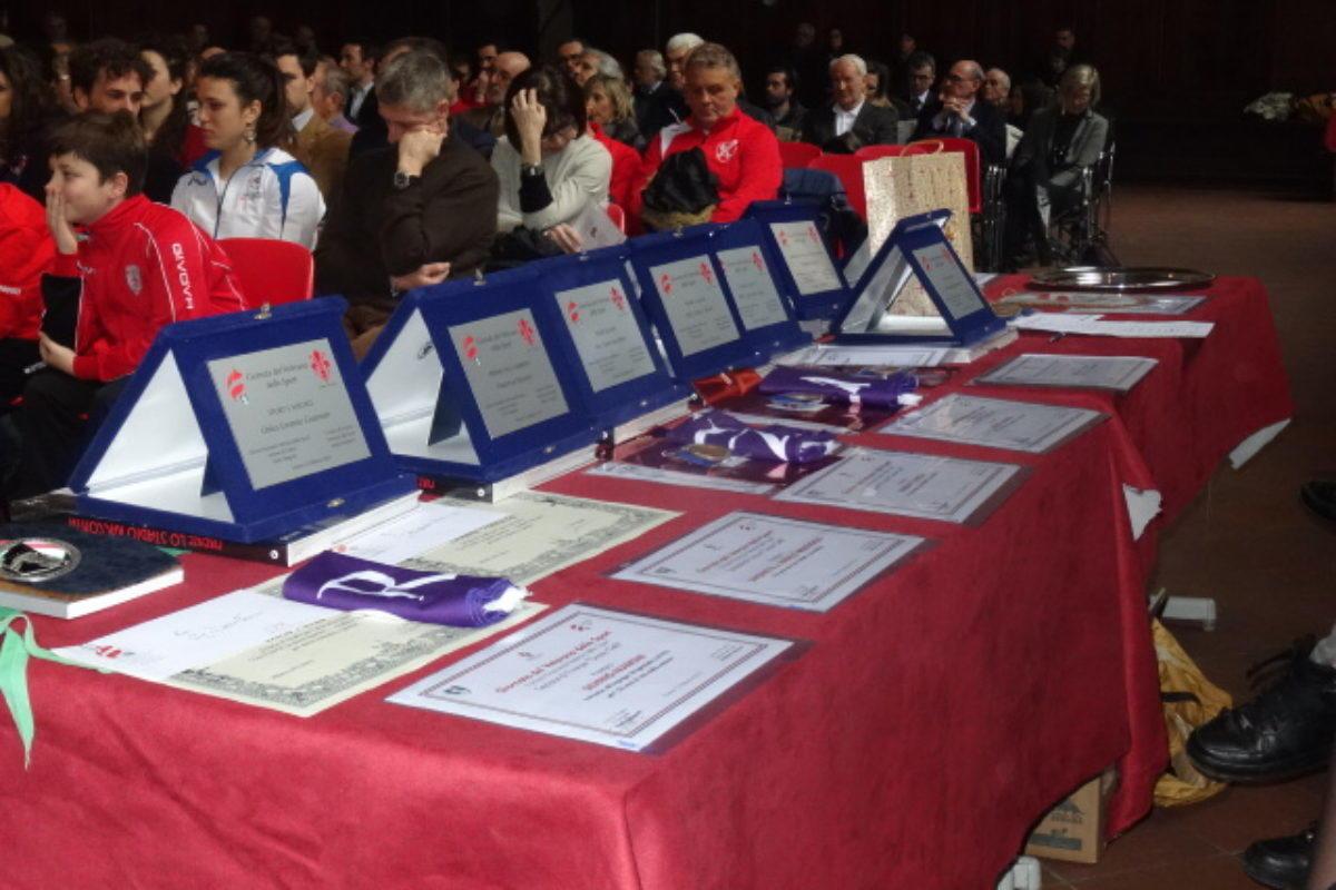 La premiazione dell'Associazione Veterani dello Sport di Firenze