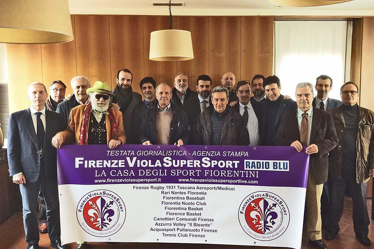 """Sport: Inizia il 4° mese del """"Pool Firenze Viola Supersport"""" la casa degli Sport Fiorentini/Radio Blù"""