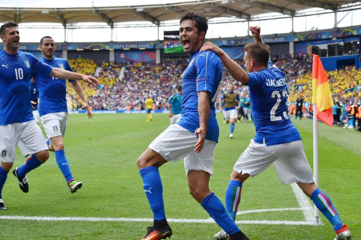 Calcio: Una grande Italia ( oggi però ..così..così..) batte la Svezia all'88° con Eder: siamo già agli Ottavi !!