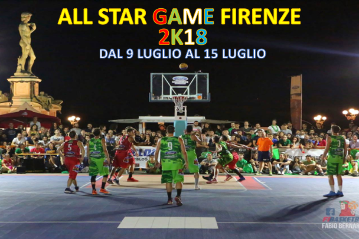 L'All Star Game Firenze quest'anno raddoppia: al piazzale Michelangelo una settimana di basket e volley