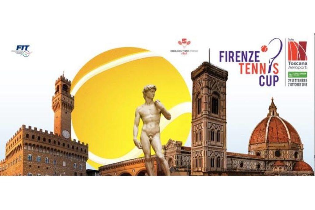 """Tennis: Quarti del """"Toscana Aeroporti"""" al Ct Firenze: in campo il derby italiano  vinto da Sonego; Baldi battuto  6-4 / 6-7 ( 2); 6-3….portiamo un nostro tennista in semifinale facendo adesso il tifo per Giustino…"""