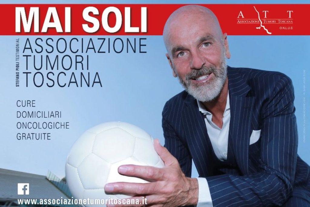 Pioli testimonial dell'Associazione Tumori Toscana. La presentazione