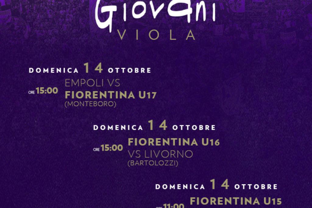 Calcio viola: gli impegni odierni delle squadre giovanili della Fiorentina