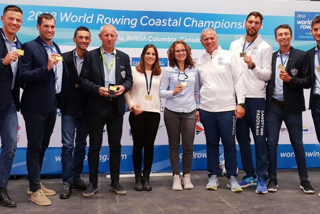 Dal Canada arrivano tre medaglie iridate per l'Italia nel coastal rowing