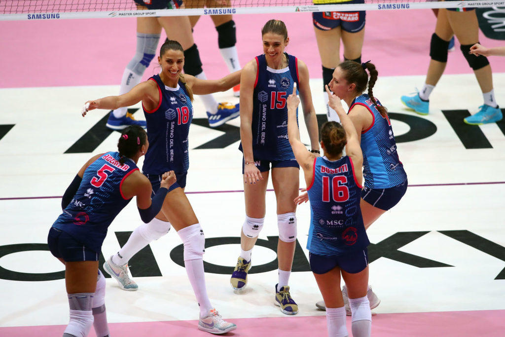 Volley: Final Four Coppa Italia A1/F: La Savino del Bene Scandicci cade contro Gorgonzola Novara  3-0