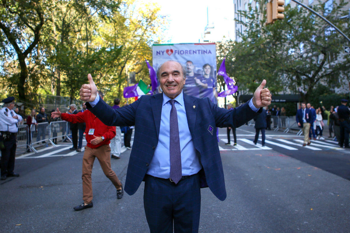"(VIDEO): New York si tinge di viola grazie a Commisso, rivedi il ""Columbus Day"""