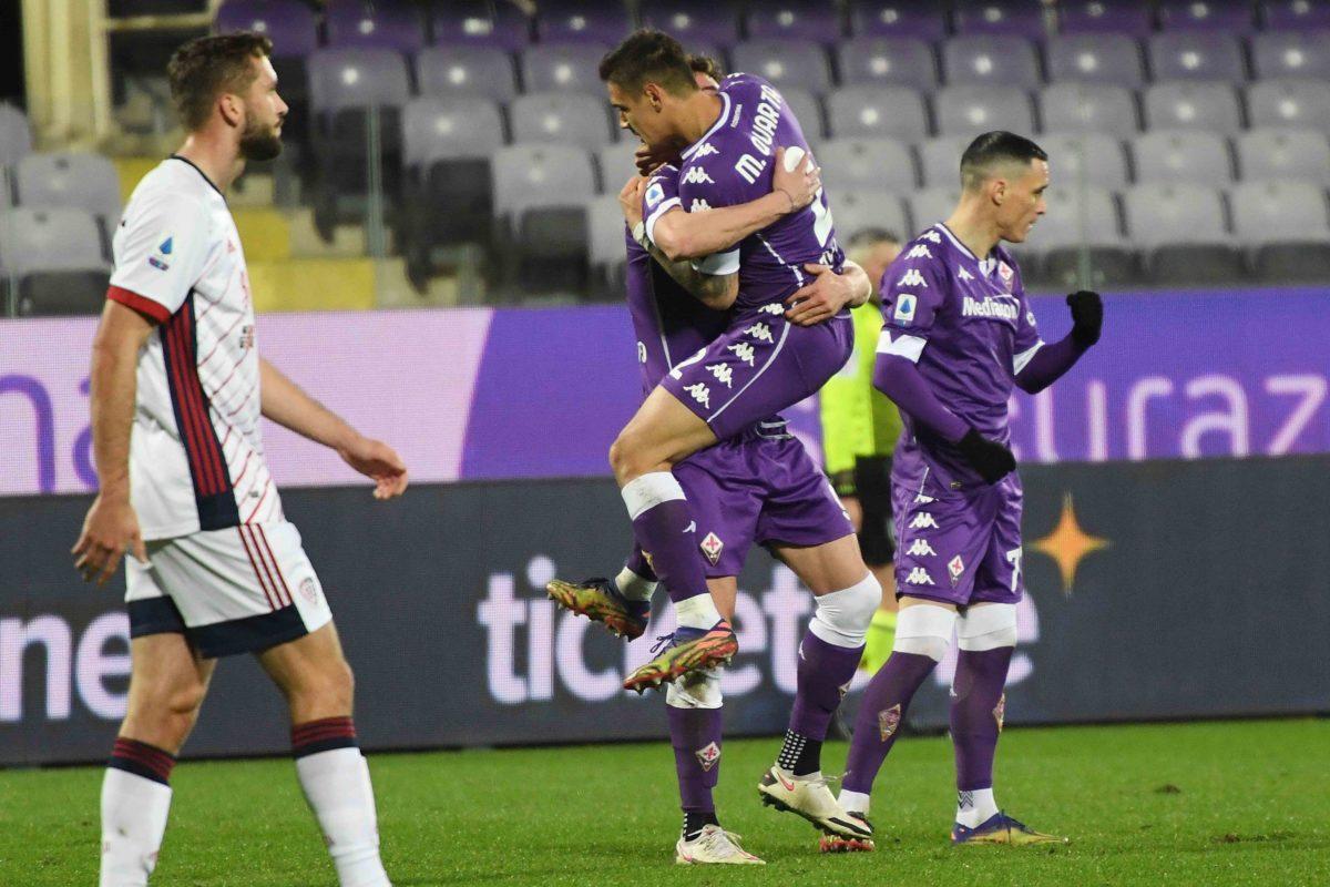 """Calcio: AGGIORNAMENTI LIVE il  """"resto"""" del 17° turno;  Fiorentina Cagliari finale 1-0 """"San Dragowski"""" poi il gol di Vlahovic;"""