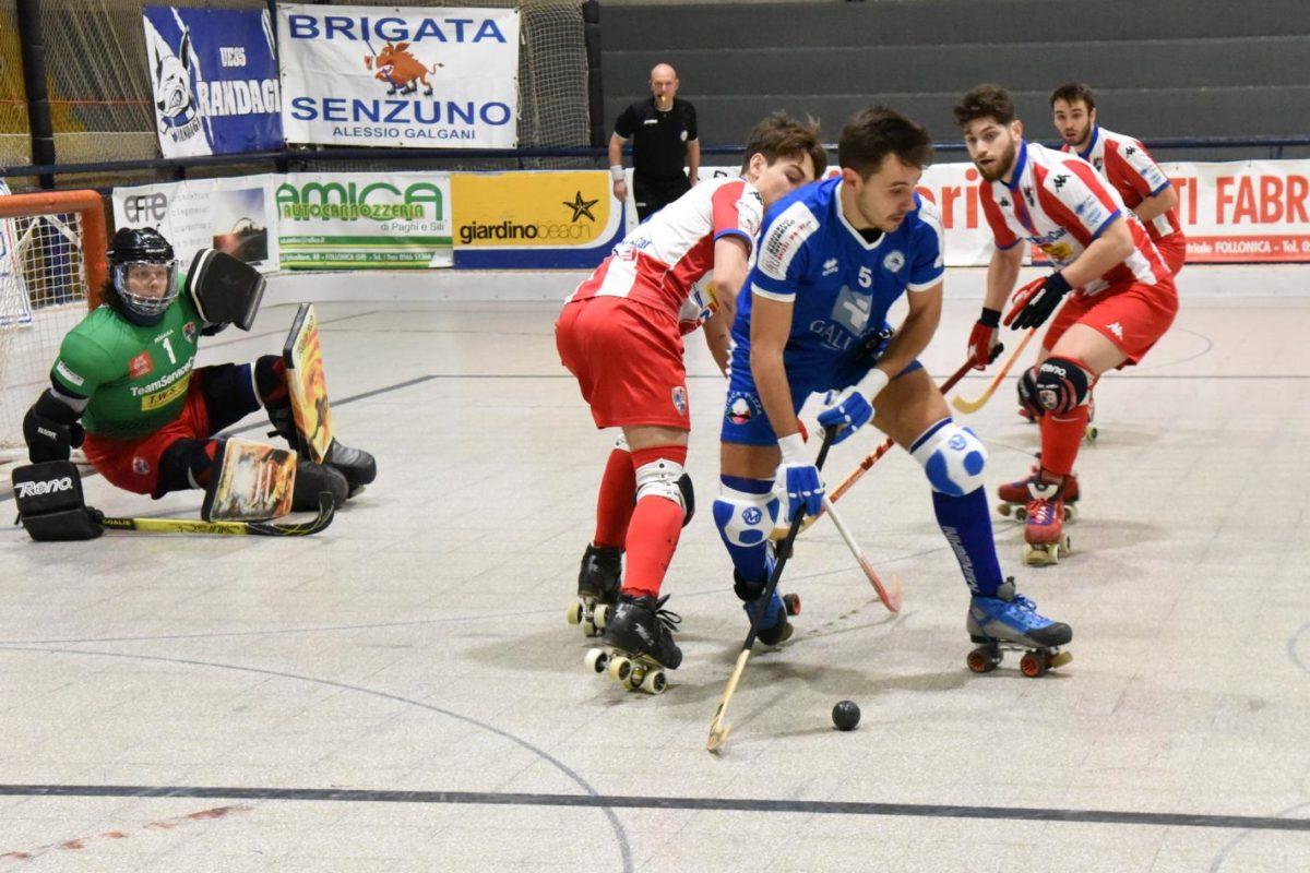 Hockey a rotelle: A1: vincono il Follonica, il Sarzana, il Grosseto; pareggia il Forte dei Marmi.