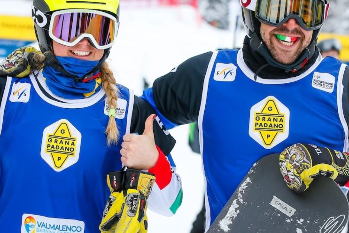 """Snow-board-crossing: Un altra medaglia azzurra: Argento nella prova a squadre: la """"solita  stoica"""" Moioli + Sommariva"""