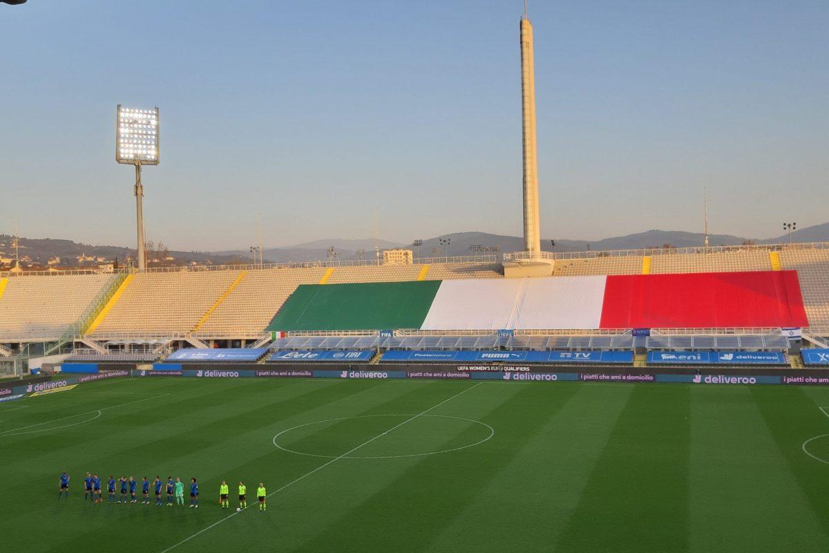 L'Italia femminile batte Israele per 12-0 e vola ad Euro 2022. Anche la viola Sabatino partecipa alla festa con una doppietta
