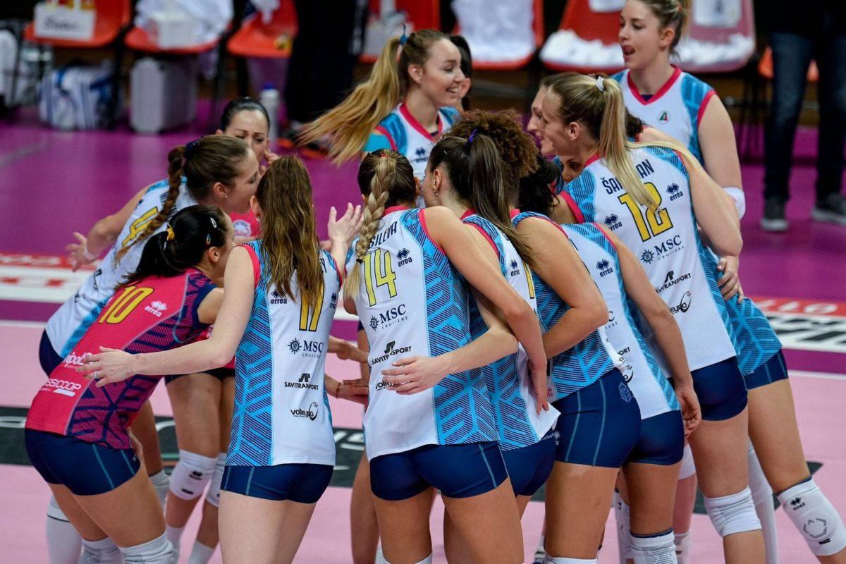 VOLLEY FEMMINILE SERIE A1- Bosca San Bernardo Cuneo-Savino Del Bene Scandicci 1-3 (23-25, 19-25, 25-17, 13-25)