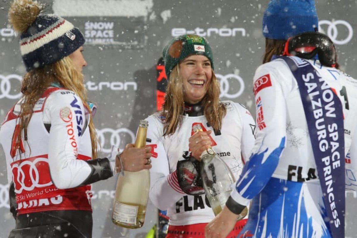 Sci: nello speciale femminile mondiale a Cortina (penultimo giorno di gare), altro tracollo azzurro: Oro alla Liensberger; malissimo le azzurre !!