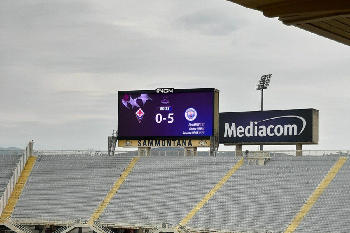 Fiorentina-Manchester City 0-5: le viola salutano la Champions League