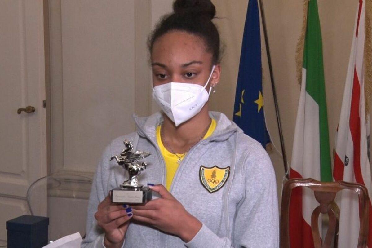 A Larissa Iapichino il premio Pegaso, con Giani che lancia Firenze per il Golden Gala