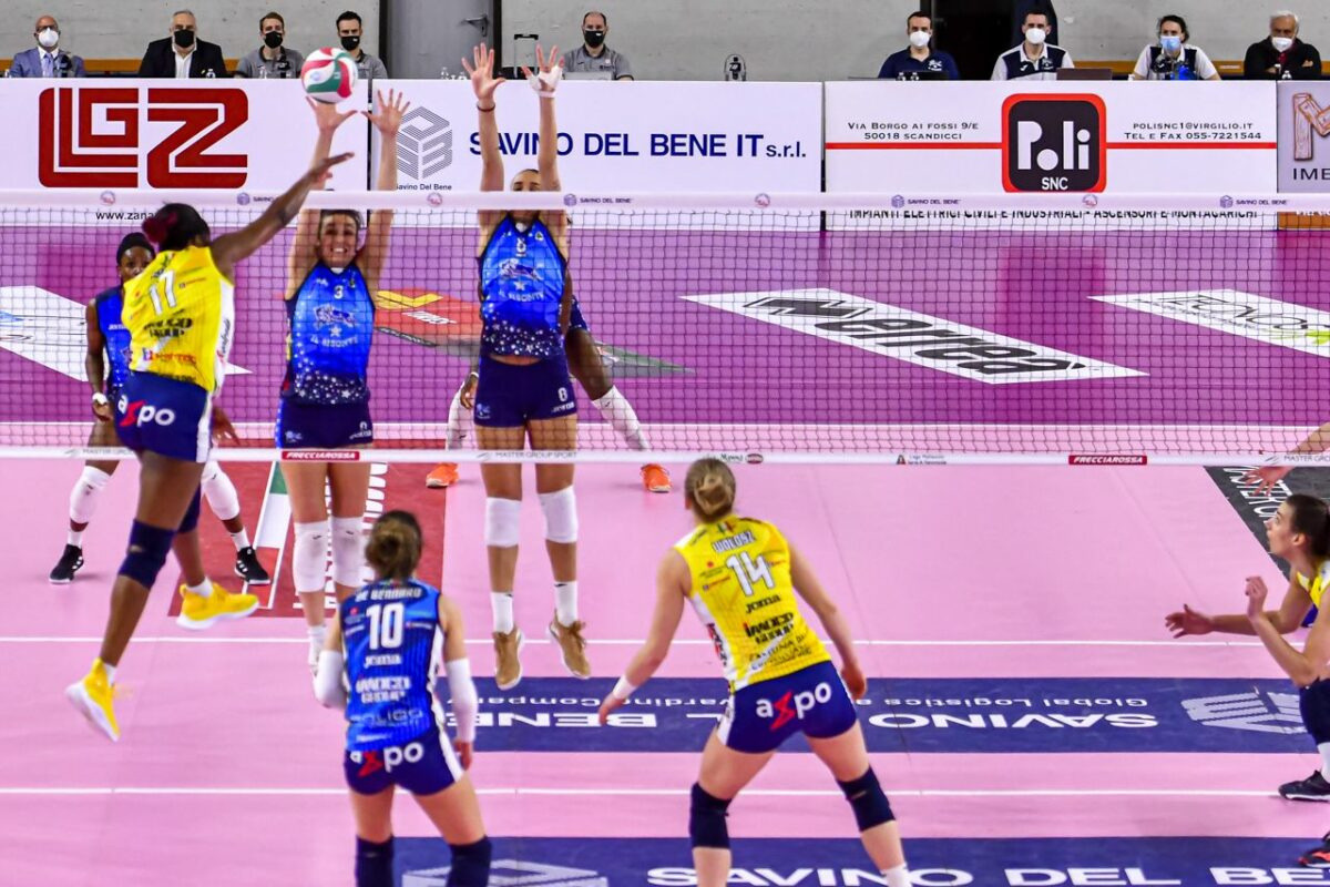 VOLLEY FEMMINILE Playoff Gara 2 Il Bisonte Firenze-Imoco Volley Conegliano 0-3 (14-25; 20-25; 17-25)
