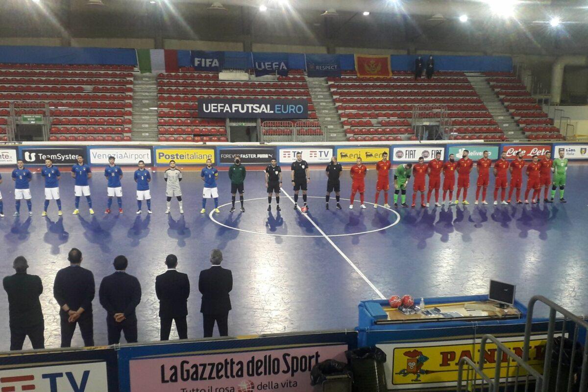 """<span class=""""hot"""">Live <i class=""""fa fa-bolt""""></i></span> Calcio a 5 Qualificazioni Campionato Europeo 2022  a Prato: Italia Montenegro  finale  2-0"""