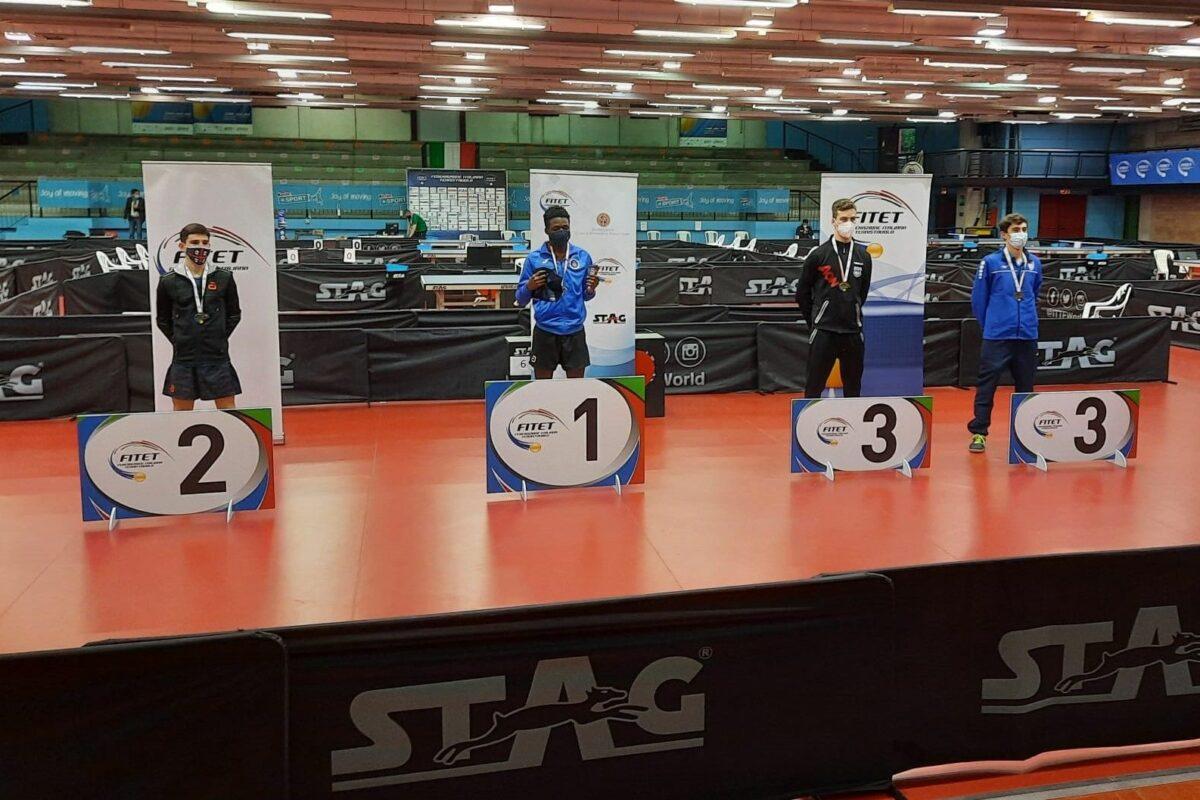 Tennis Tavolo John Oyebode ( Circolo Prato 2010) Campione Italiano Under 21