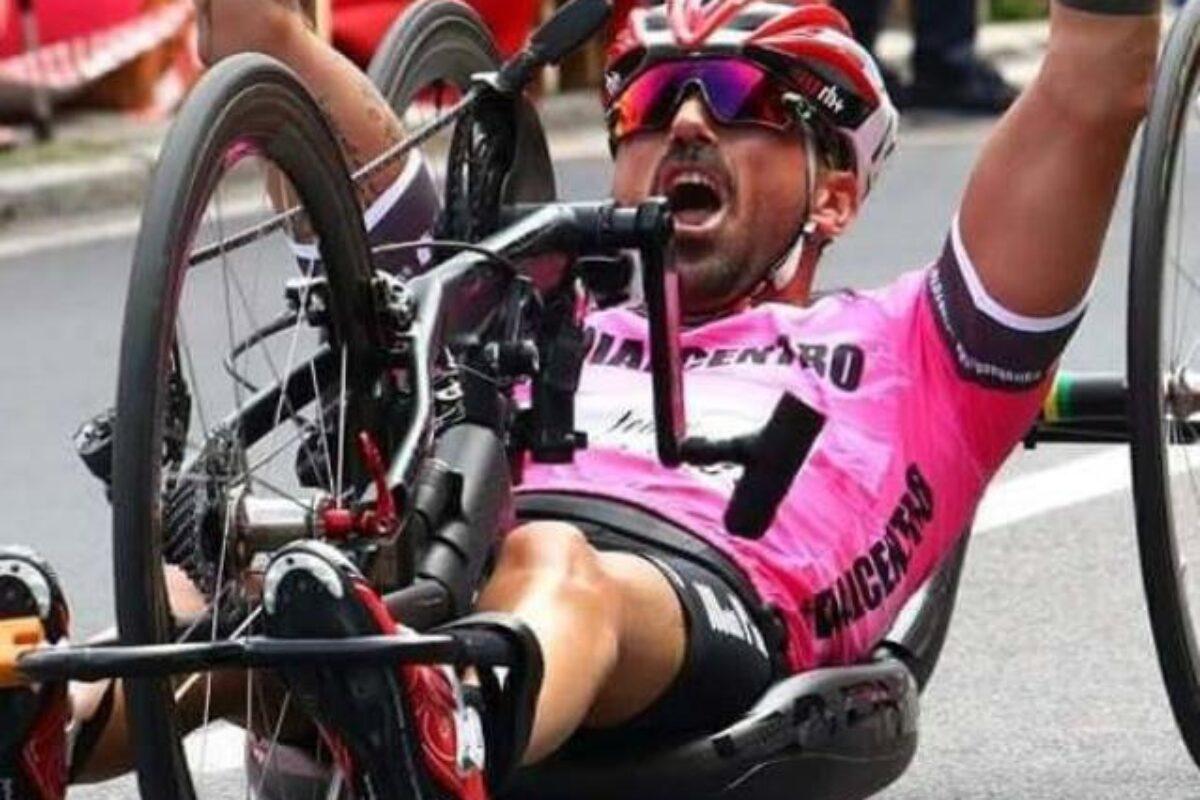 Christian Giagnoni campione italiano di handbike. Terzo Buccoliero