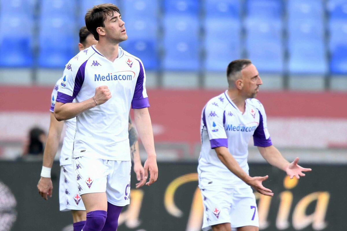 Fiorentina, un buon punto quello conquistato. Vlahovic, 13° gol stagionale, Ribery troppo ingenuo