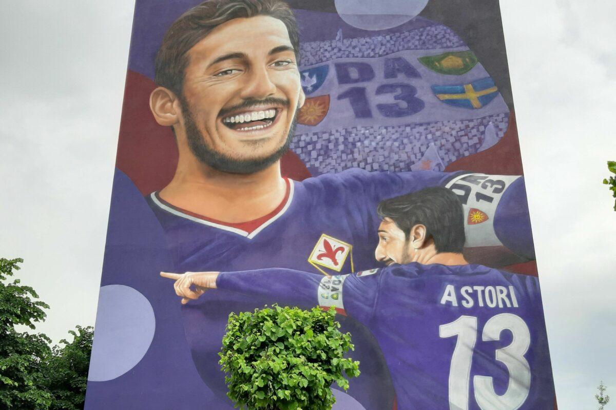Inaugurato all'Isolotto il murale dedicato a Davide Astori