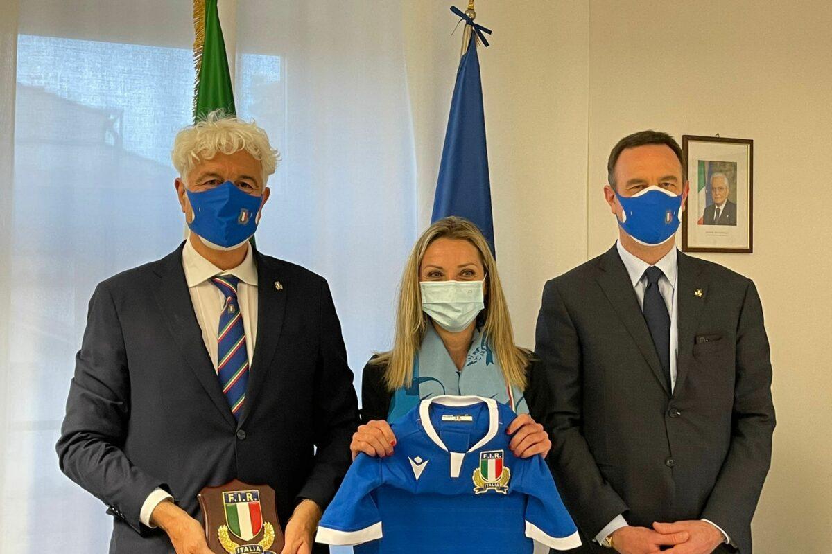 RUGBY -Il sottosegretario Vezzali incontra il Presidente Innocenti ed il Direttore Generale Signorini