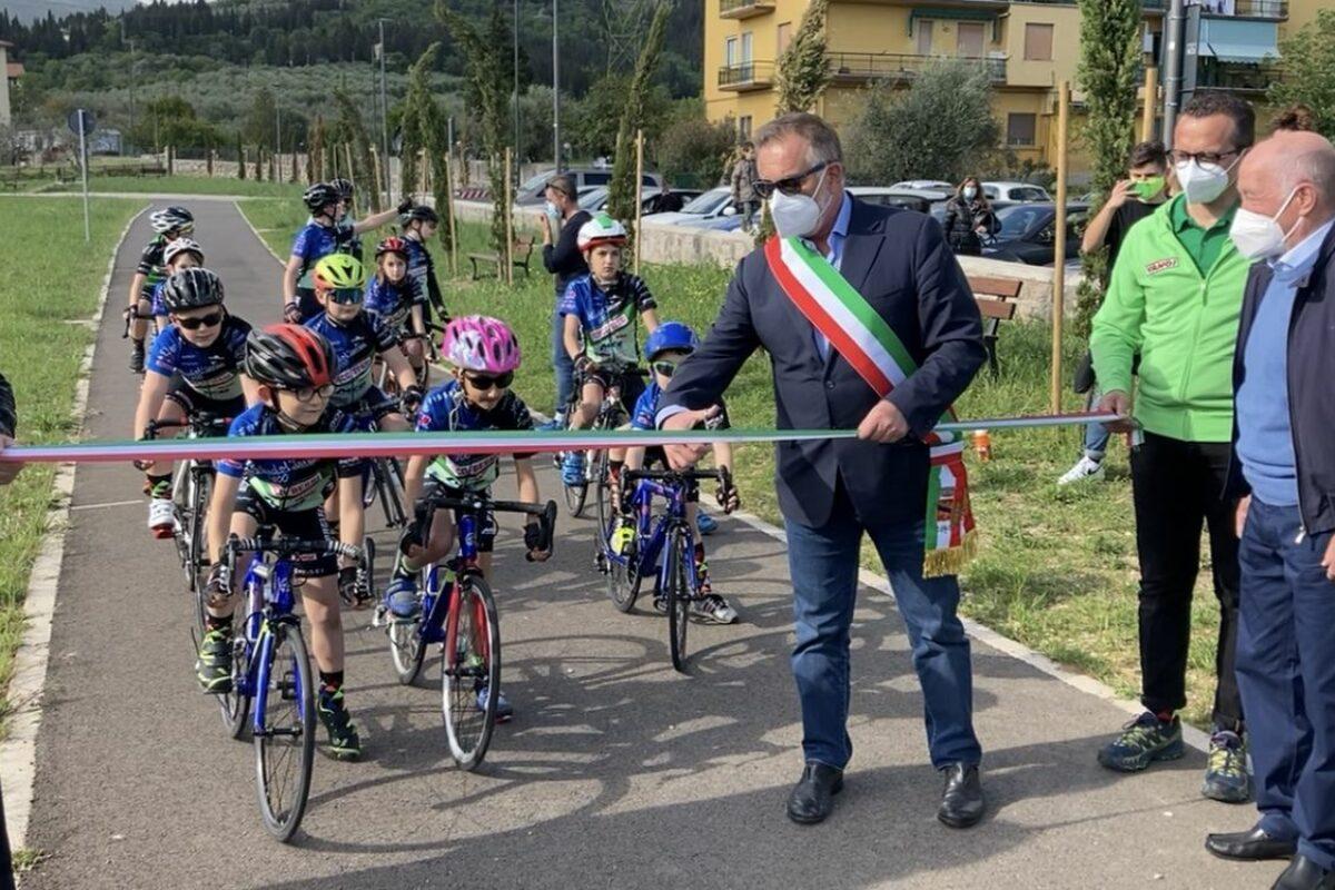 Inaugurato il ciclodromo del Collle a Calenzano