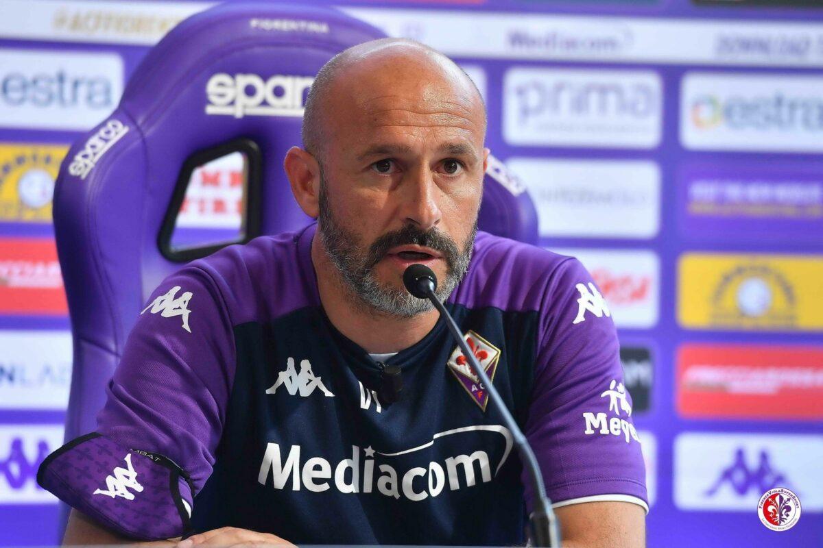 CALCIO- Fiorentina, la conferenza stampa di presentazione della gara di Bergamo, dell'allenatore della Fiorentina, Vincenzo Italiano.
