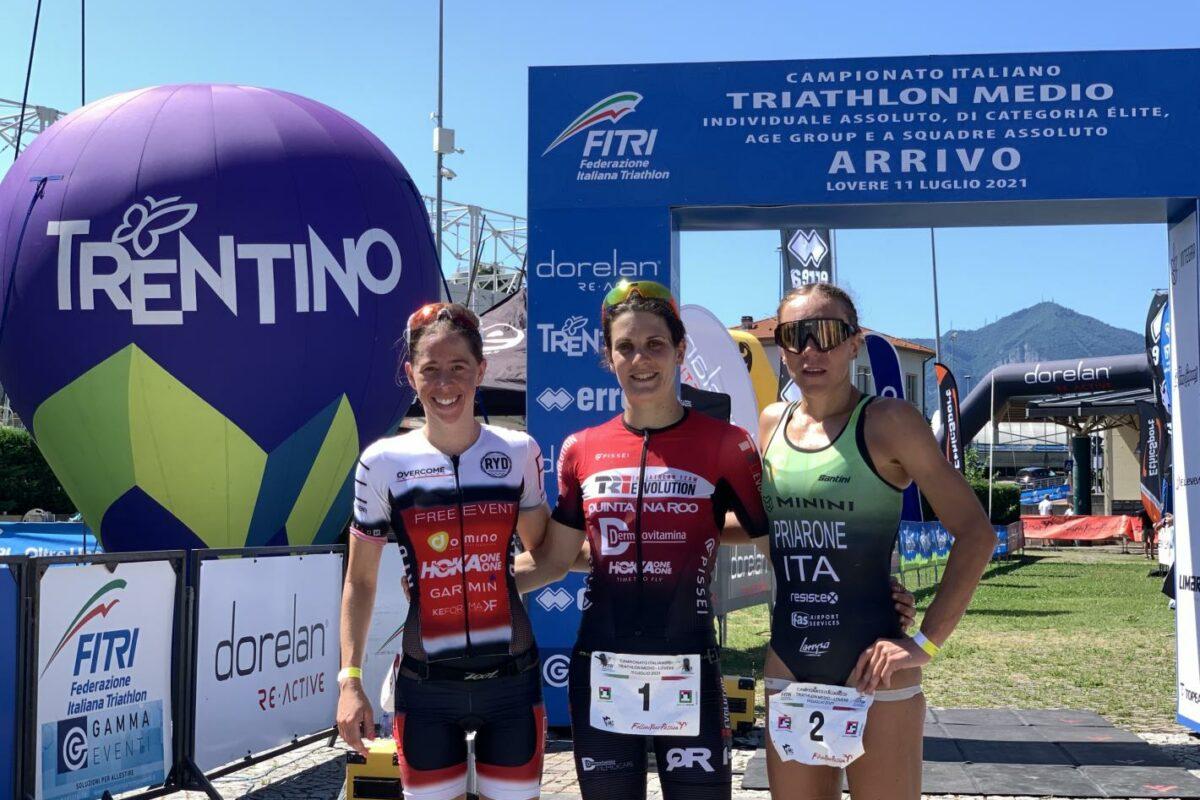 Super Marta Bernardi, per la terza volta è campionessa italiana di triathlon medio