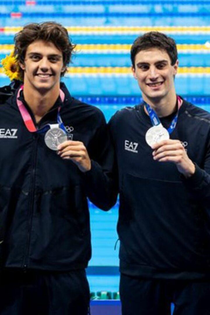 OLIMPIADE TOKYO 2020-Nuoto La 4×100 Stile Libero con Lorenzo Zazzeri, fa la storia, e' Argento!
