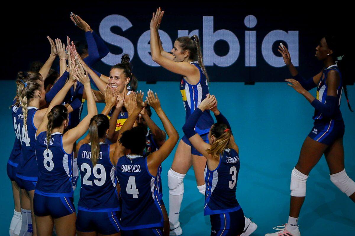 VOLLEY FEMMINILE EUROPEI- ITALIA – SERBIA 3-1 (24-26; 25-22; 25-19; 25–11) L'Italia è  Campione d'Europa