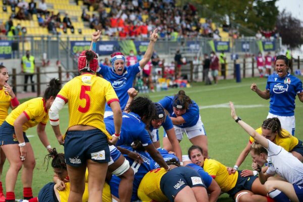 RUGBY FEMMINILE- Qualificazione Rugby World Cup- Italia-Spagna 34-10
