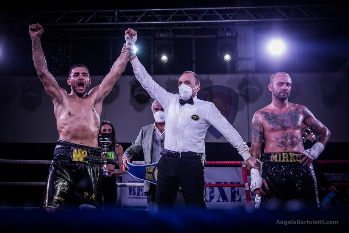 "Boxe: Marco ""TheBoogeyman""Papasidero Campione Italiano super-welter"